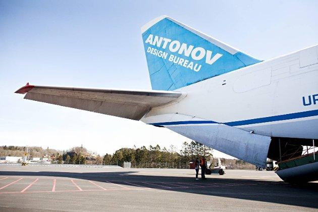 Antonov 124 er leid inn av Logitrans for å frakte tre offshorepumper for Framo. Hver av pumpene veier 17,5 tonn og skal leveres i Singapore.