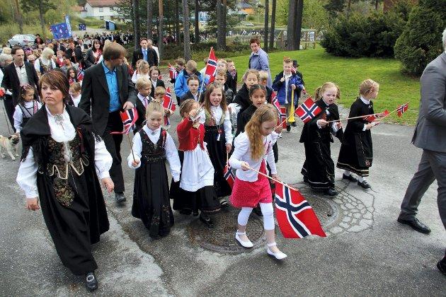 17. mai 2012 på Skotterud. FOTO: VIDAR NYGÅRDSETER