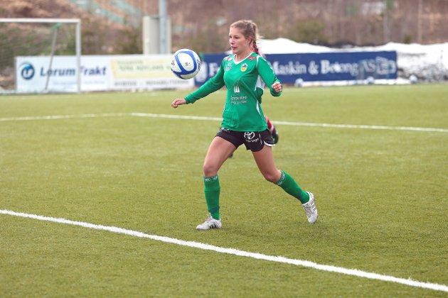 Vårin Ness scora mot Klepp 2 i 1-0 sigeren til Kaupanger i kveld.