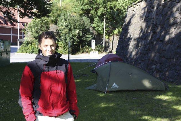 Jimmy Peterson (22) fra Stockholm har planer om å campe i dagevis utenfor Koengen for å få en god plass på Springsteen-konserten.