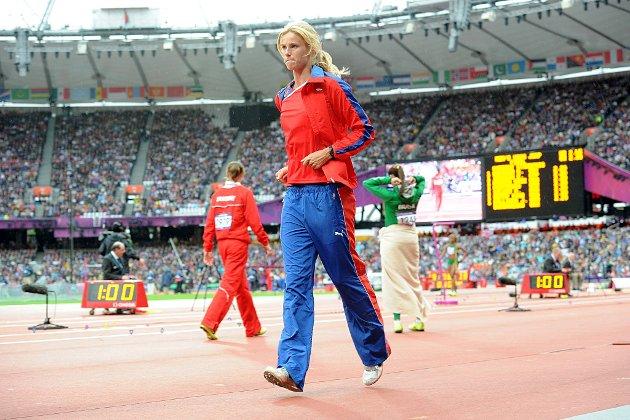 Margrethe Renstrøm fikk store problemer med krampe i den ene foten like før innhoppingen til lengdekvalifiseringen skulle starte på Olympiastadion tirsdag kveld.