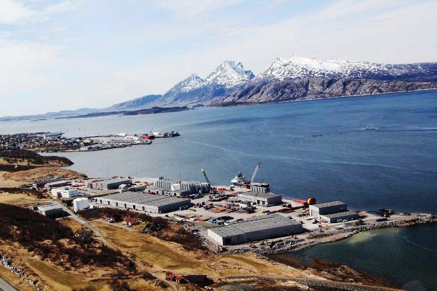 Oljebasen Horvnes i Sandnessjøen, mai 2013.