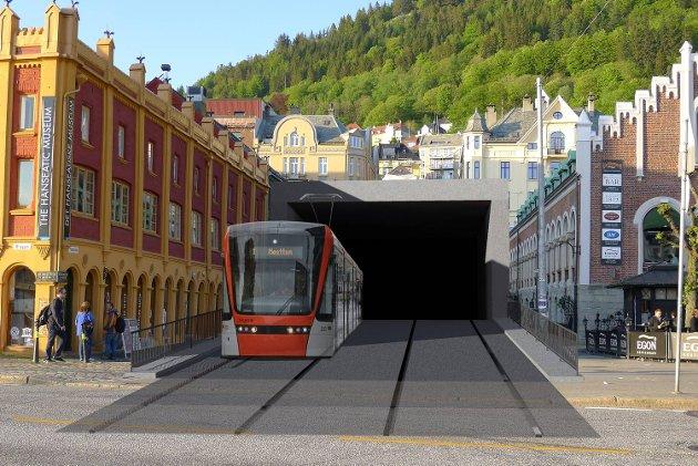 Eilif Broder Lund sitt skrekkscenario av en tunnel i dette området.