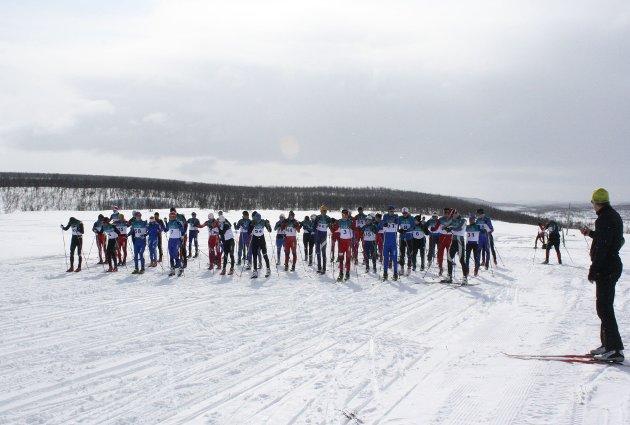 Bæskadesrennet går fra Suolovuopmi til Gargia. Distansen er 28 kilometer og både i konkurranse- og turklassen var det mange som tok turen over fjellet.