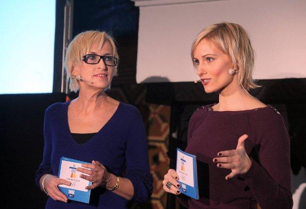 Karen-Marie Ellefsen og Anne Rimmen var studioverter for NRK-sendingene fra OL i Vancouver. Formidable seertall til tross, Kringkastingsrådet stilte seg kritisk til enkelte sider ved NRKs OL-dekning.