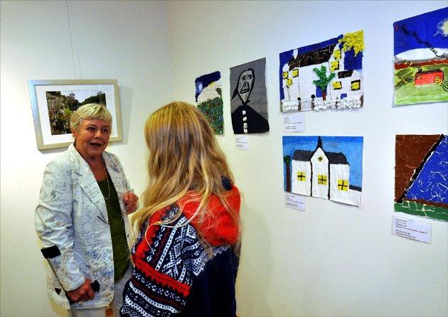 ENGASJERT:  Solrun Krokann Berg er opptatt av at unge får et forhold til Inge Krokann tidlig. Foto: Kjell Arne Jørgensen