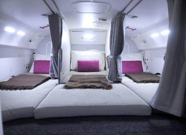 Høy komfort om bord i en Dreamliner.