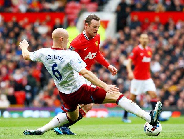 Det ble 4-0 til hjemmelaget.Her Wayne Rooney.