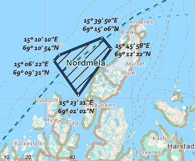 Det blir ingen havvindpark i Gavlfjorden mellom Nordmela og Stø.