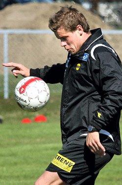SNART KLAR: Marius Johnsen trener med ball igjen. FOTO: ROAR GRØNSTAD