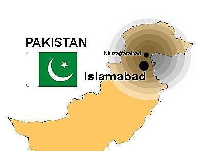 Jordskjelv i Pakistan.