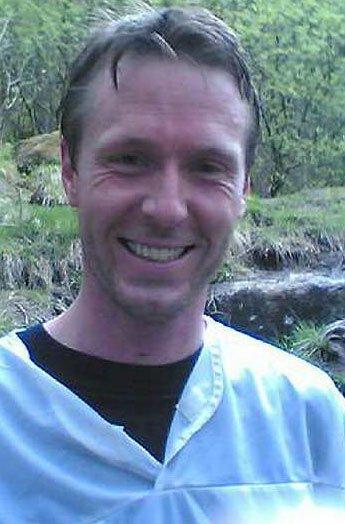 Børge Sivertsen (31) var førstemann opp Lyderhorn. (Foto: MMS: Tove Guldbrandsen)