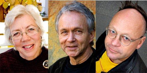 Tre av rådets 15 medlemmer: Nan Bentzen, Gudmund Moren og Øyvind Berg.