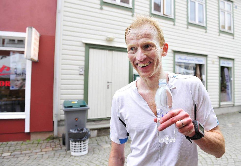 Årets raskeste deltaker i 7-fjellsturen er Sverre Slethaug. (Foto: Magne Turøy)