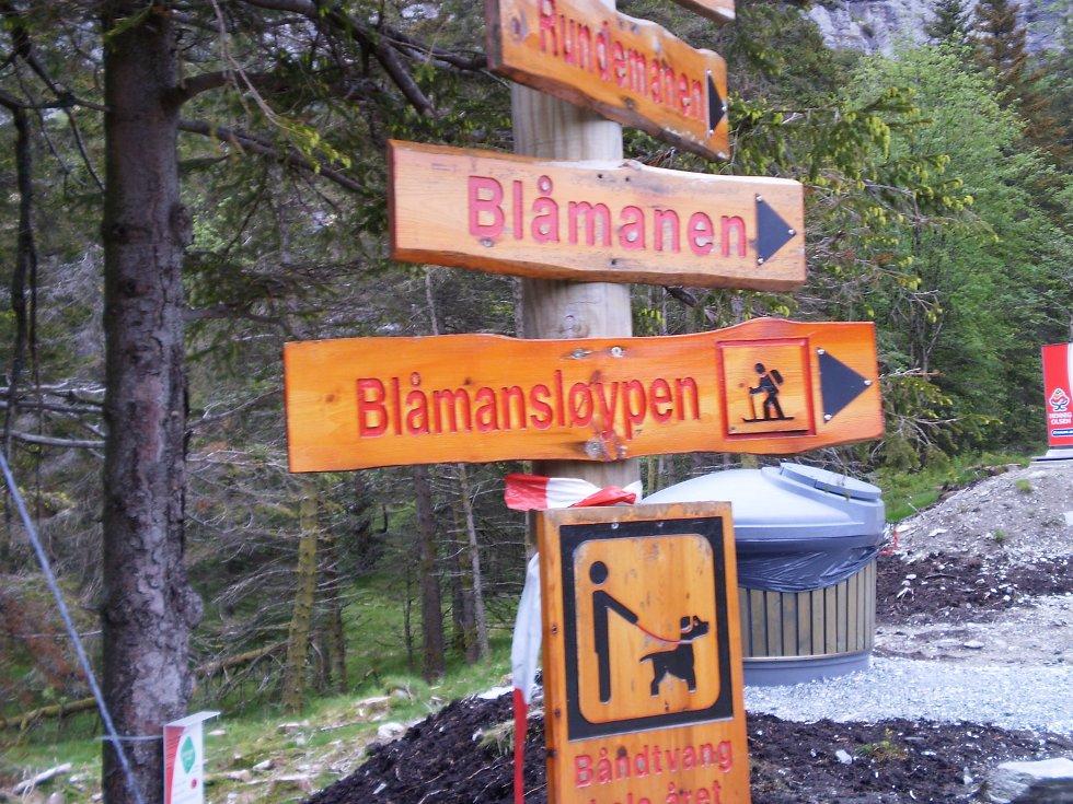Godt med veivisere når man ferdes over de syv fjell (24.05.2009). (Foto: Jeanette E. Fosse)