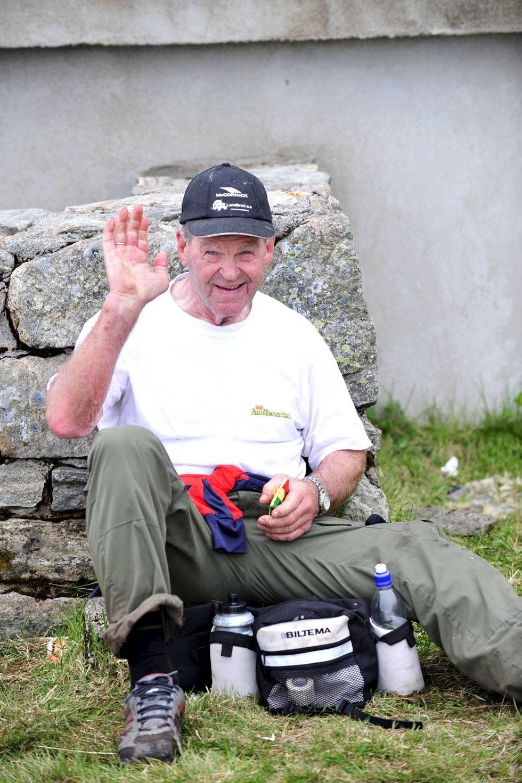 Inge Sævareid (76) på Ulriken (24.05.2009).              (Foto: Magne Turøy)