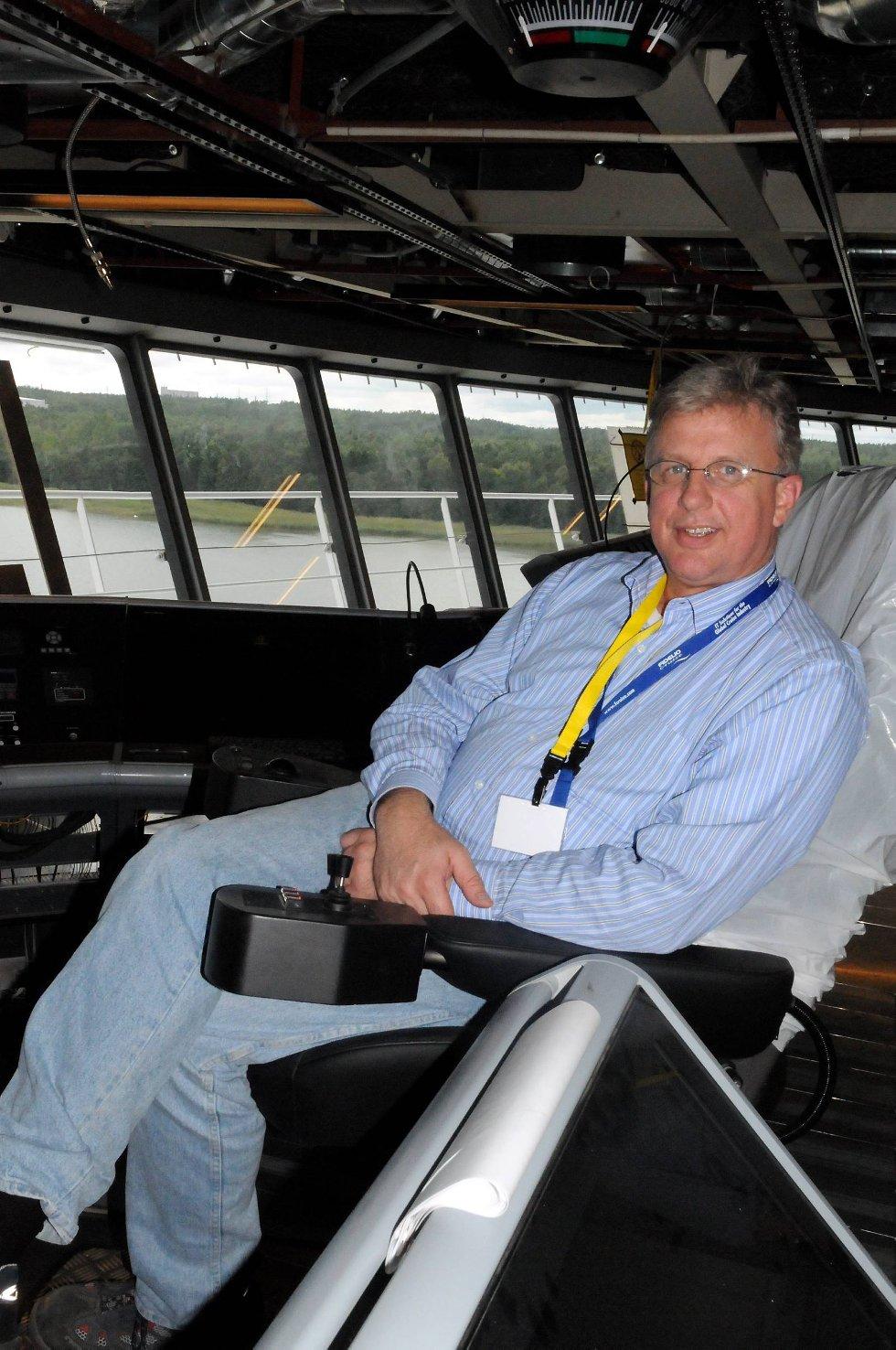 Tor Isak Olsen vil ha ansvaret for 8.000 mennesker om bord på Oasis. (Foto: Thomas Hildonen, ANB)