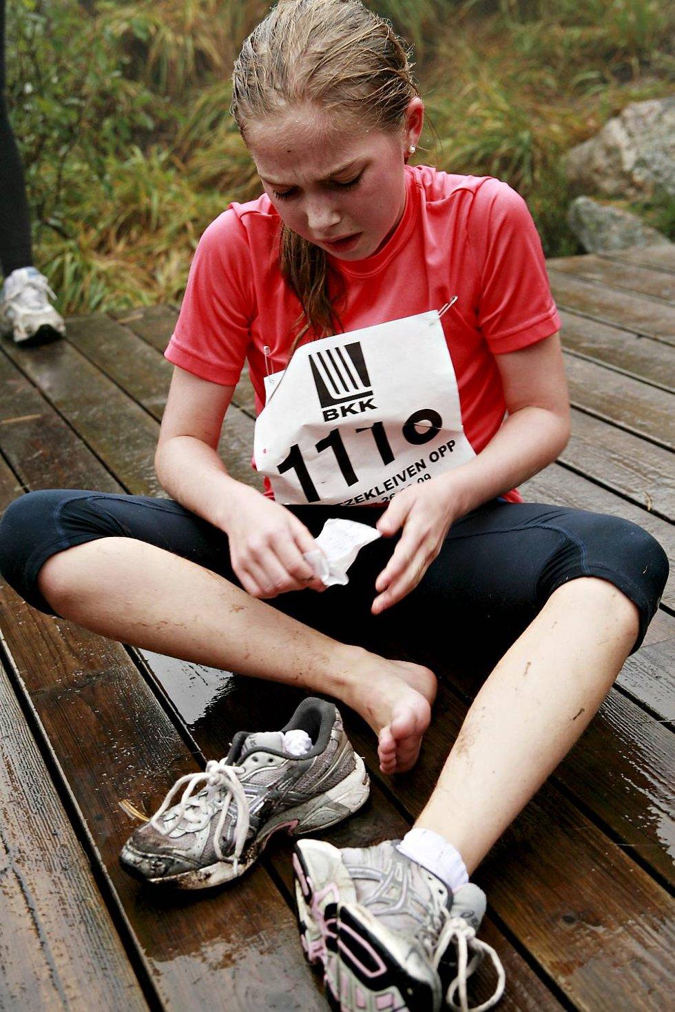 Silje Amalie Grindedal perset med fem sekunder, men hadde vondt i bena på toppen fordi hun hadde dårlige sko.              (Foto: Nikita Solenov)