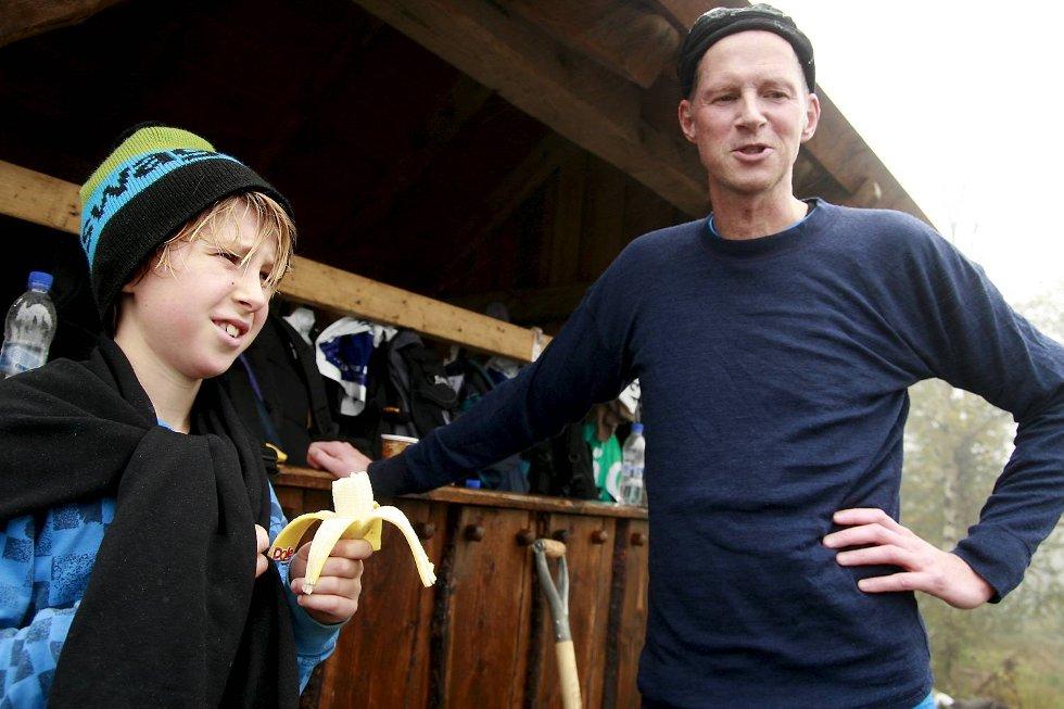 Lars Henrik Steinbakk (12) utfordret faren Leif Steinbakk opp Stoltzen, og slo ham med et helt minutt. Lars Henrik kom inn på den sterke tiden 13.40.              (Foto: Nikita Solenov)