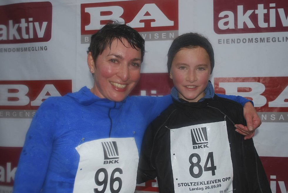 Mor Liv Hege Furnes Hilt og datteren Emilia Furnes hilt (10) er skuffet. ? Vi har aldri løpt så dårlig, sukker de. (Foto: Tonje Sagen)