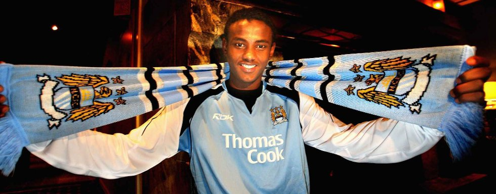 Abdisalam Ibrahim skrev under for Manchester City i 2007.