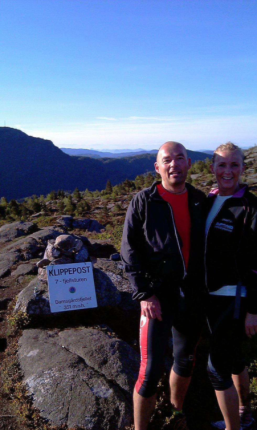 Søskene Knut Øivind Børø og Vibeke Børø Fløysand går 7 fjellsturen.              (Foto: Leserbilde)