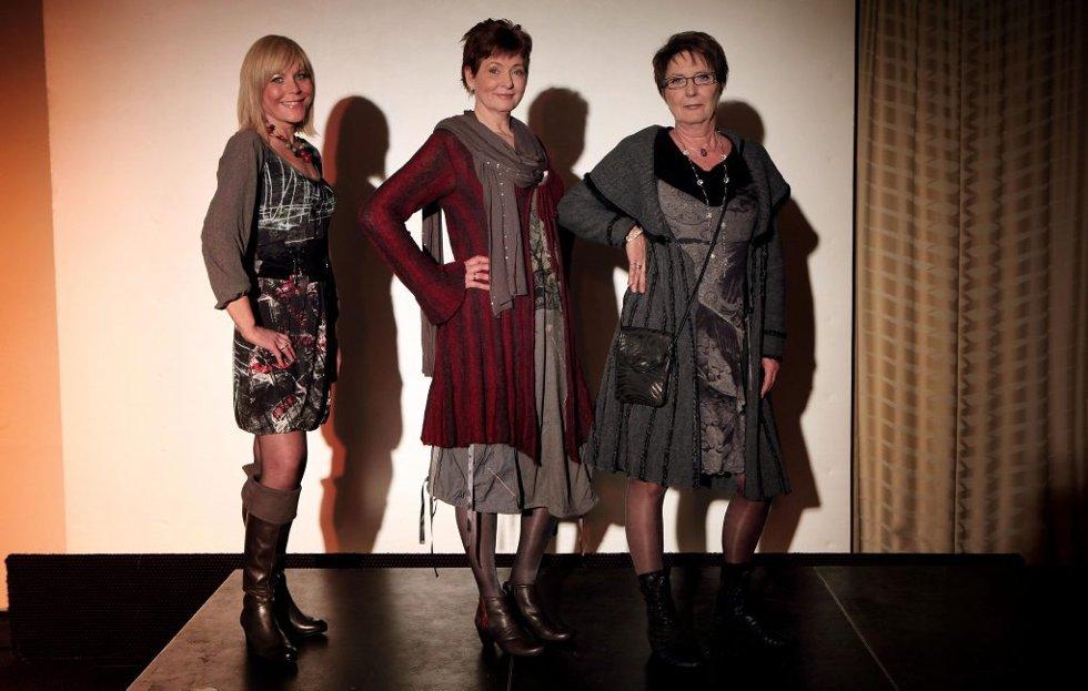 BLE NY: Tromsø-kvinnene Beathe, Inger og Tove viste fram sitt nye jeg under showet i Tromsø tirsdag.