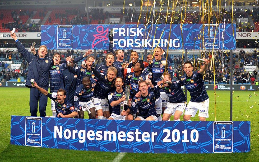 De norske mesterne anno 2010. Strømsgodset innfridde favorittstempelet. (Foto: Vidar Ruud, ANB)
