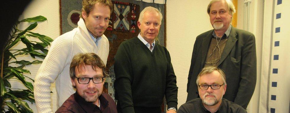 BEGEISTRET: Jon Are Vøien, Tom Kolvig, Olle Dahl, Bersvend Salbu, Jon Ola Kroken, Statens Helsearkiv, Tynset.
