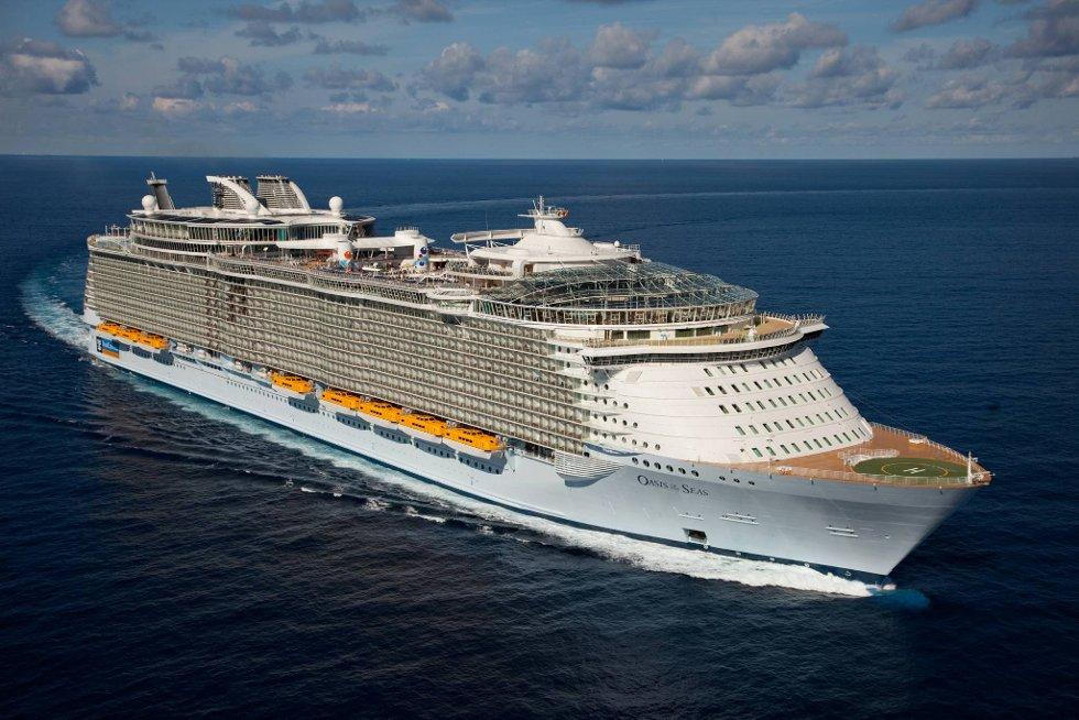 Ingen cruiseskip på de sju hav er større enn Oasis of the Seas.
