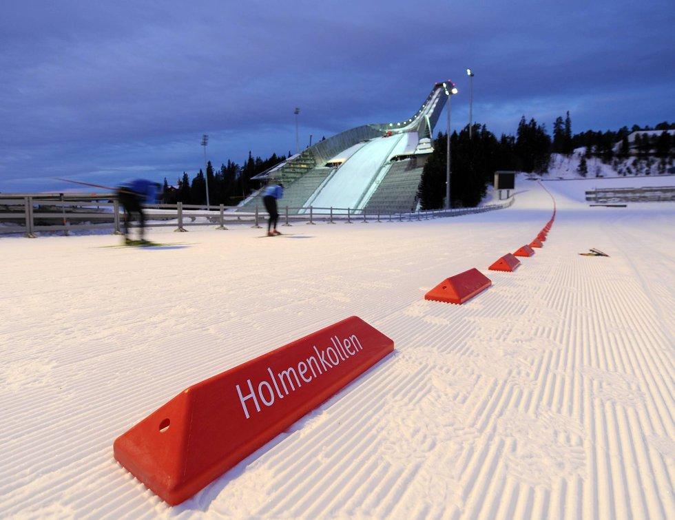 Homenkollbakken fremstår i all sin prakt bare en måneds tid før VM i Oslo.