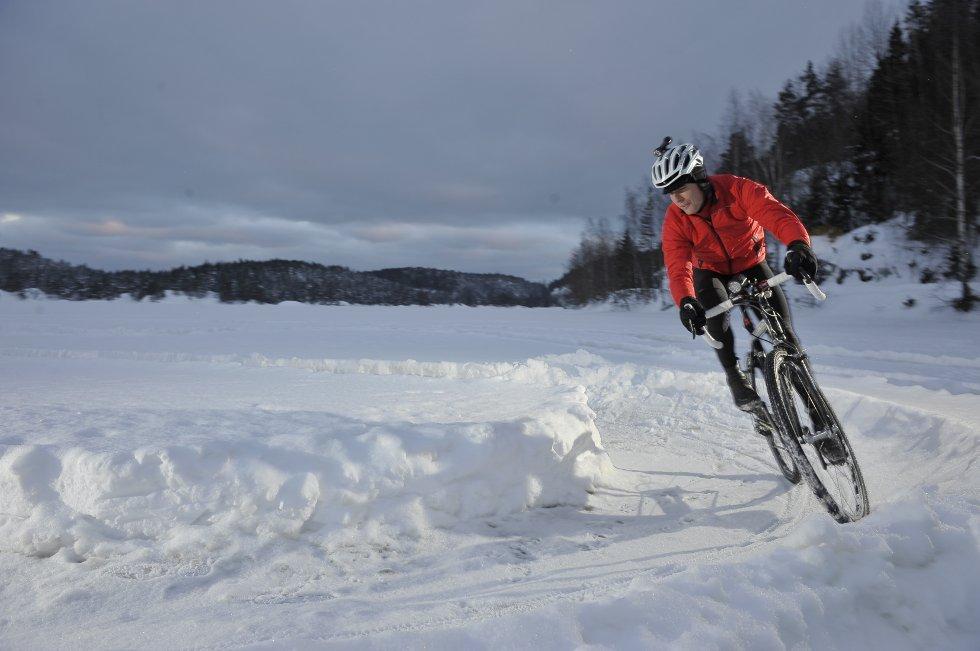 Sykkelrace på is er  i ferd med å bli populært i utlandet