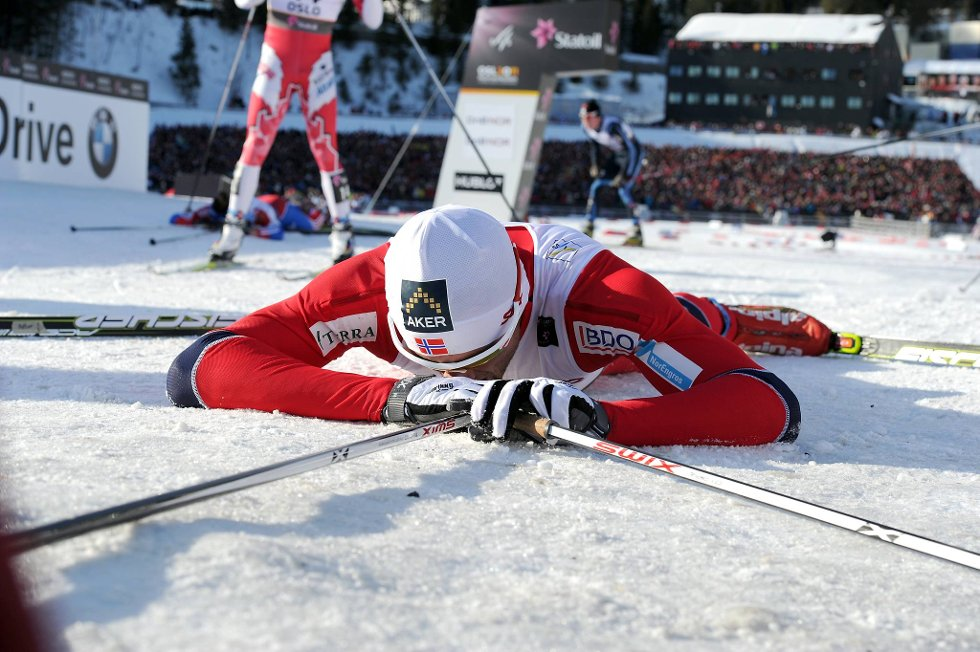 Slik ser en langrennskonge ut når han er sliten: Petter Northug.