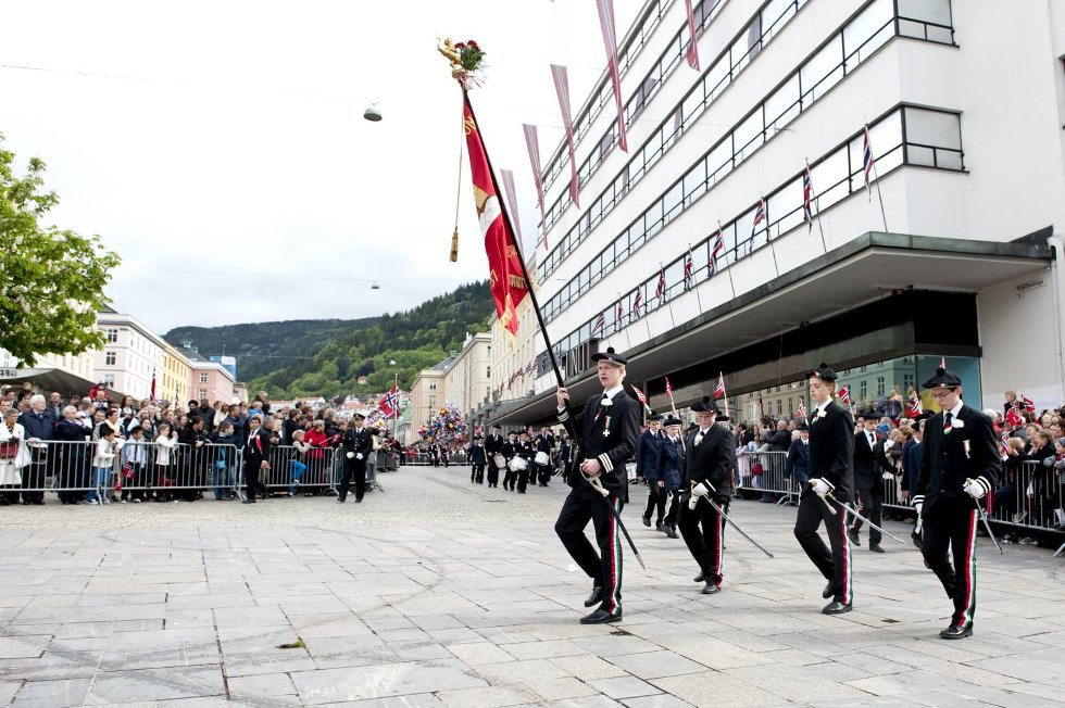 Fjeldets Bataljon talte i år 32 gutter.  (Foto: Skjalg Ekeland)