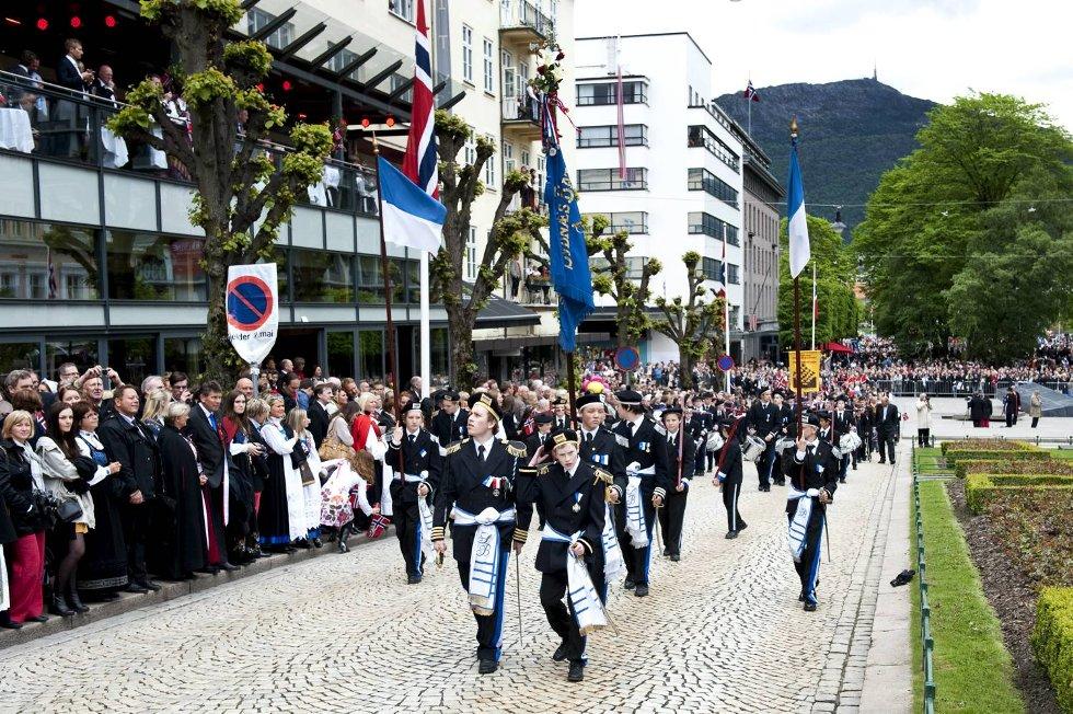 Sydnæs Bataljon talte 33 gutter.  (Foto: Skjalg Ekeland)