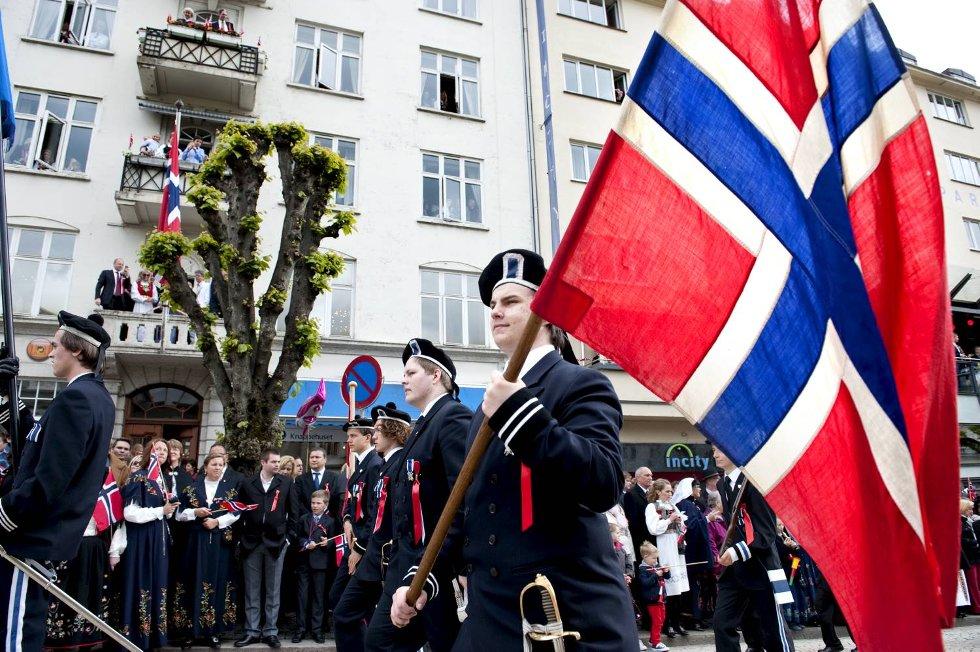 Nygaards Bataljkon var hele 64 gutter på linje.  (Foto: Skjalg Ekeland)