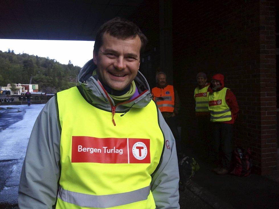 7-fjellsturen. Per Ove Oppedal fra Bergen Turlag (29.05.2011). (Foto: Linda Hilland)