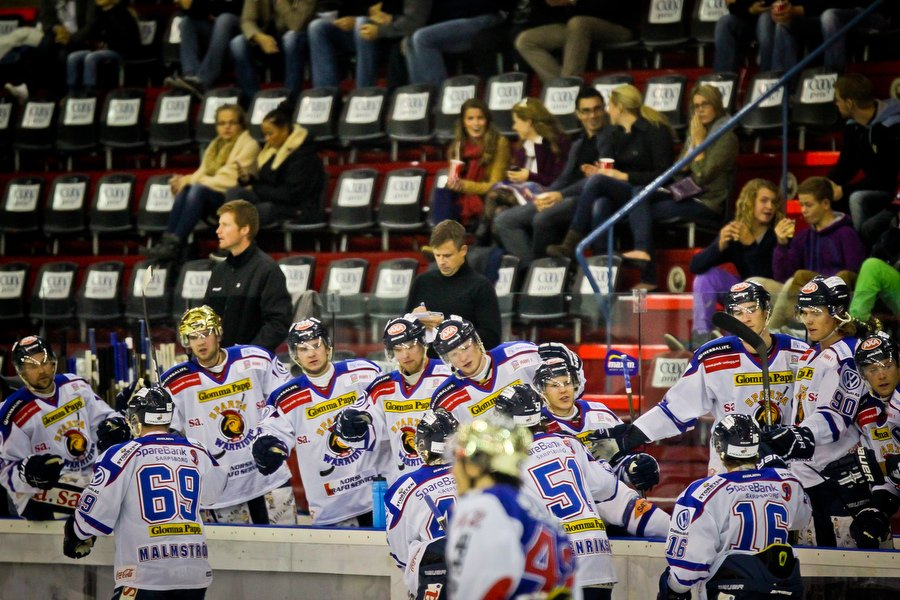 GET ligaen , Ishockey , 17.09.2010 , Jordal Amfi , Vålerenga v Sparta , Sparta feirer 2-0 målet , Foto: Thomas Andersen (Foto: Thomas Andersen)