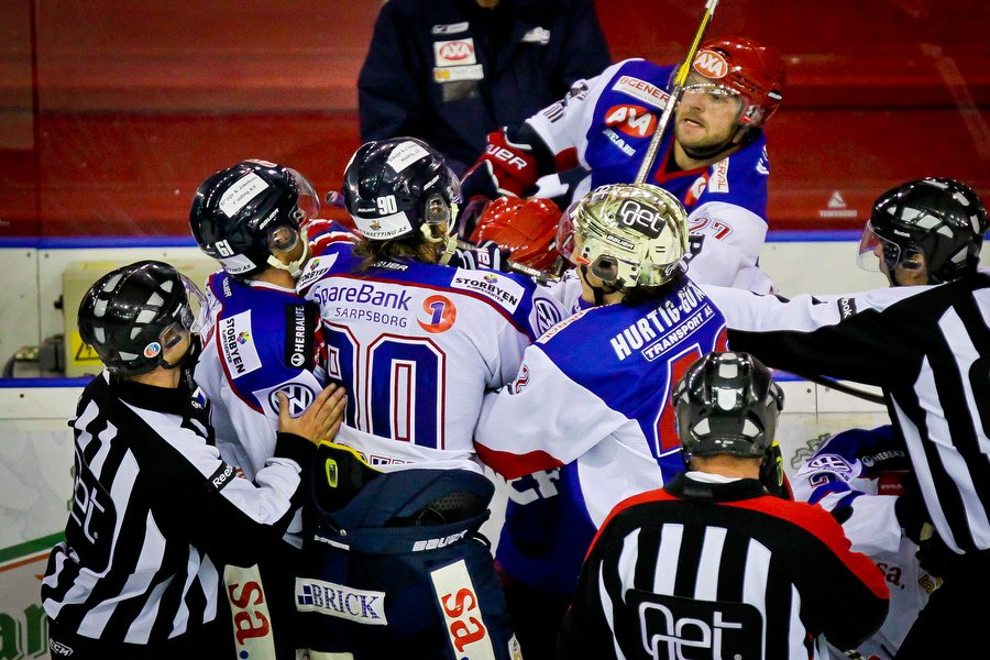 GET ligaen , Ishockey , 17.09.2010 , Jordal Amfi , Vålerenga v Sparta , Slosskamp , Foto: Thomas Andersen (Foto: Thomas Andersen)