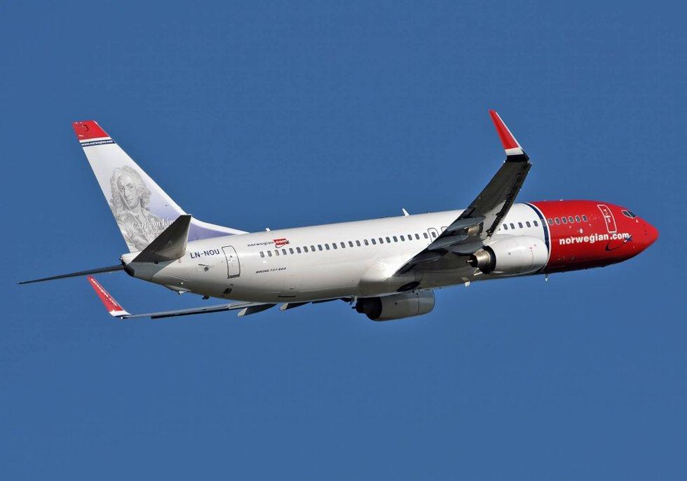 Norwegian flyr høyt.