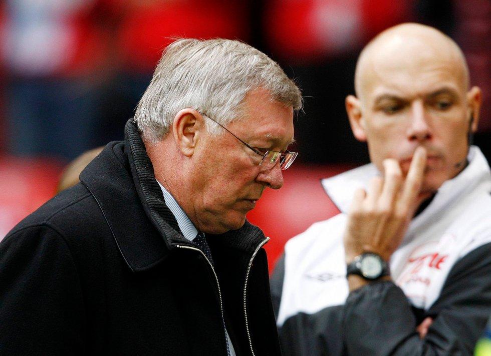 Alex Ferguson var ikke akkurat en blid mann etter oppgjøret.