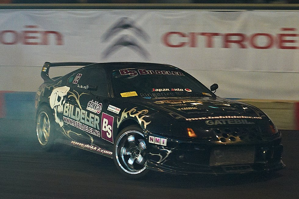 Tor Olav Moen i Toyota Supra MK IV. Foto: Dmitry K Valberg (Foto: )