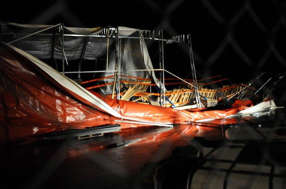Det ble gjort store skader under Dagmars vrede. Bildet er fra Hagelin i Kristiansund.  (Foto: Tidens Krav/ANB)