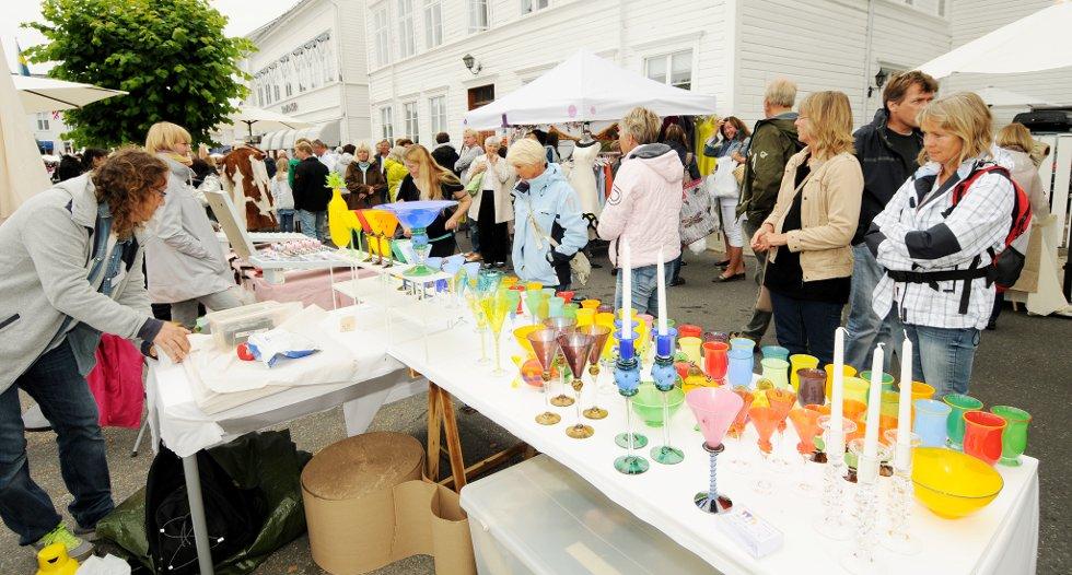 Det er alltid masse flott å se på under Villvins Kunsthåndverkmarked i Risør.