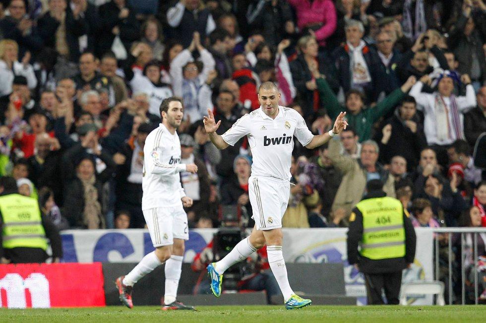 Karim Benzema har scoret ti mål for Real Madrid denne sesongen.