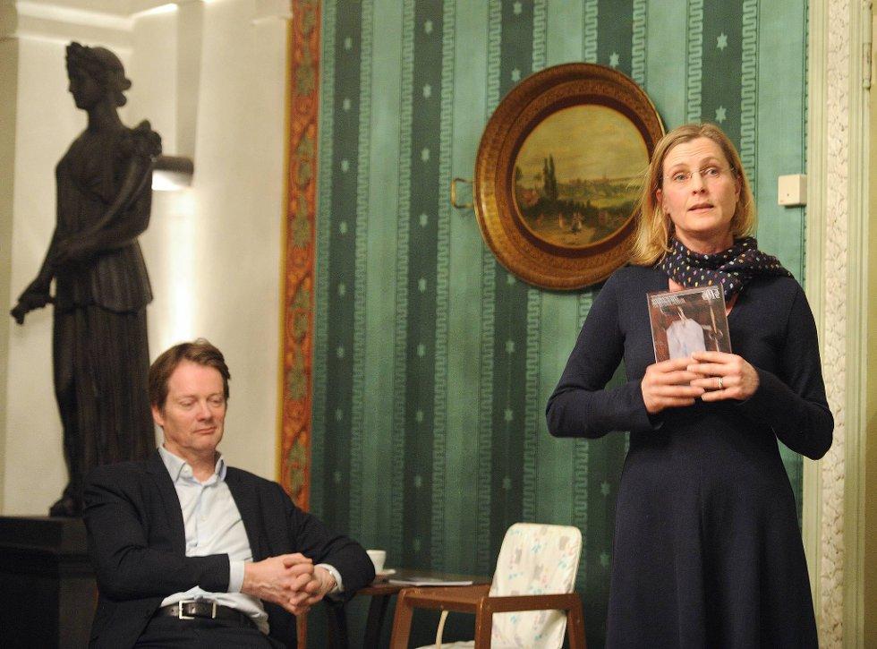 Nina Berre er avdelingsdirektør arkitektur for Nasjonalmuseet. Her sammen med Audun Eckhoff t.v.