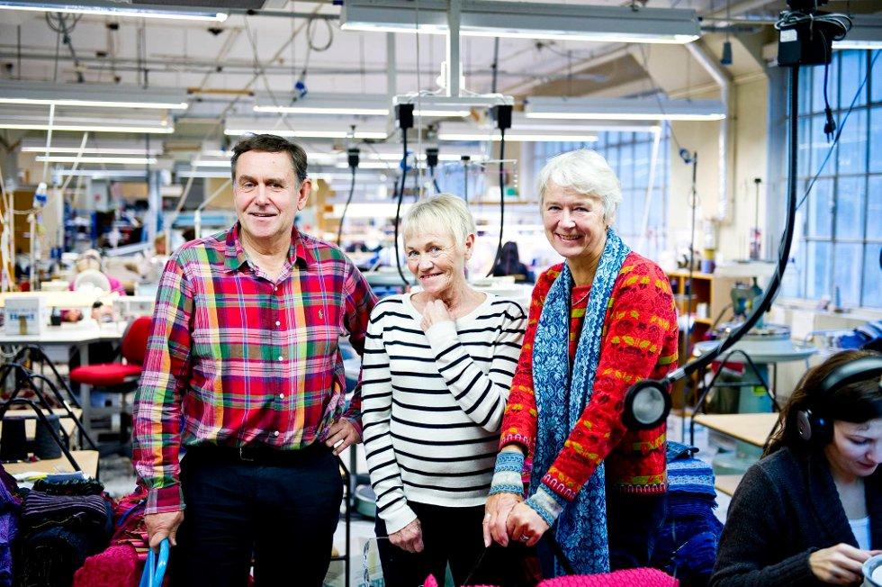 Gründere: Kolbjørn Valestrand, Hildegunn Møster og Signe Aarhus, de tre eierne som startet bedriften i 1992.