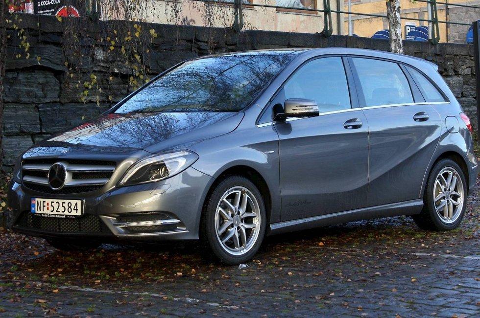 FLOTTE BREMSER: Mercedes B-klasse viser seg å ha bremser i sportsbilklassen.