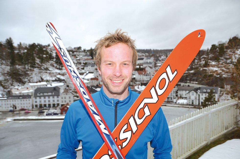 Norgesmester kombinert: Ikke til å tro, men Elling Solfjeld stilte altså i klassen for seniorer. Der vant han til sin store overraskelse. Og mener det skyldtes at de andre var for dårlige. (foto: Frode Gustavsen)