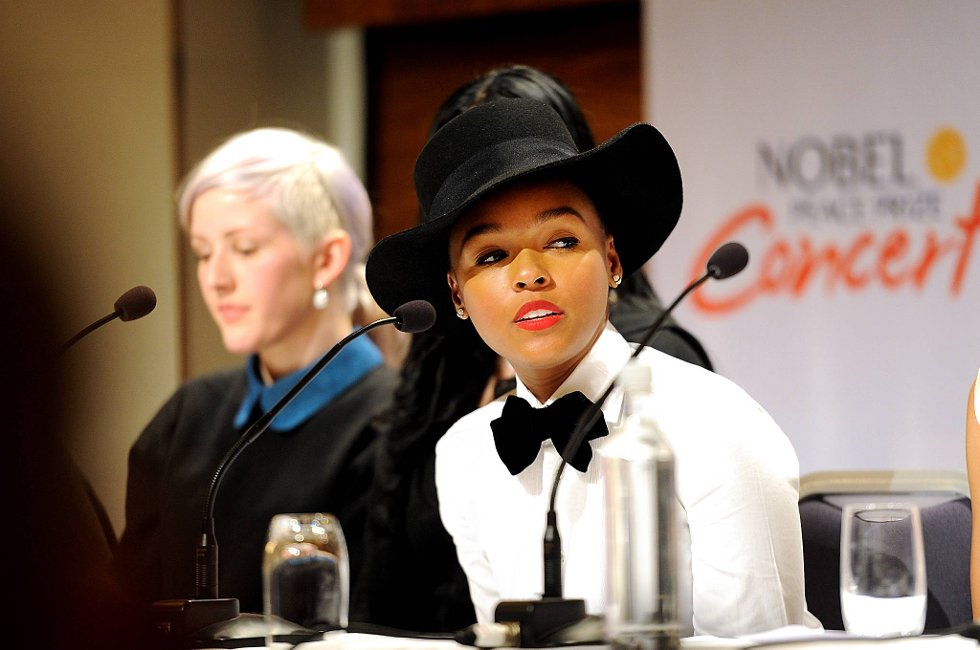 Janelle Monáe var et av toppnavnene under Nobelkonserten i desember i fjor. Her fra pressekonferansen før konserten.